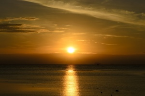 sunrise moring on the beach