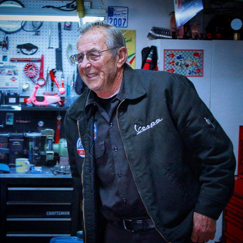 Rolf Soltau and the Vespa Tech Workshop I may neveruse